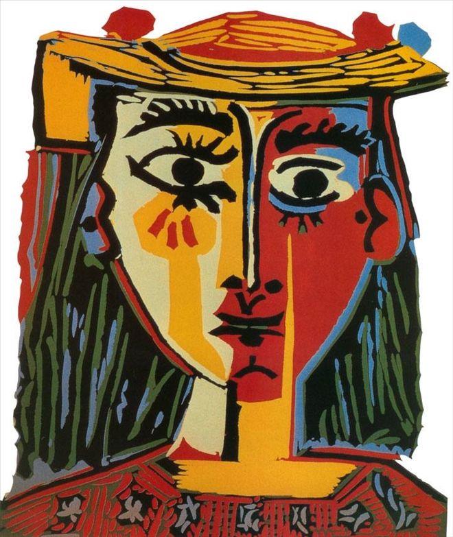 Pablo Picasso Şapkalı Kadın Woman with Hat 1962